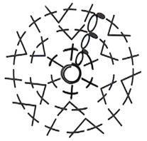 Diagrama tejido en redondo