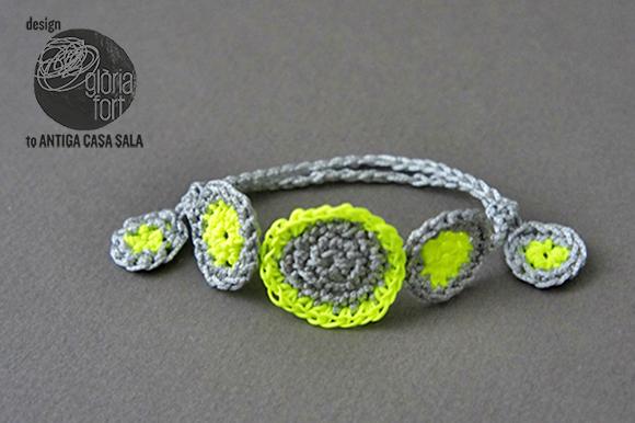 Pulsera Flúor Crochet