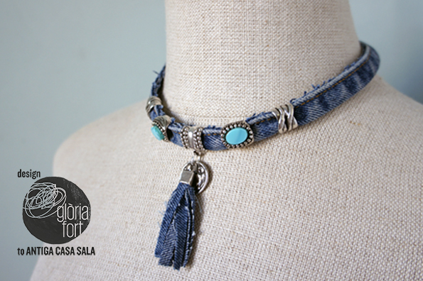 Jeans necklace _ glòria fort