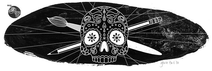 pirate sugar skull